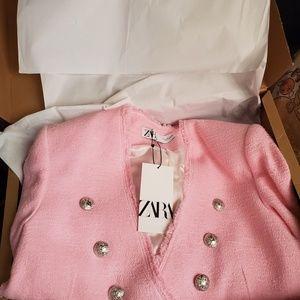 Zara pink tweed